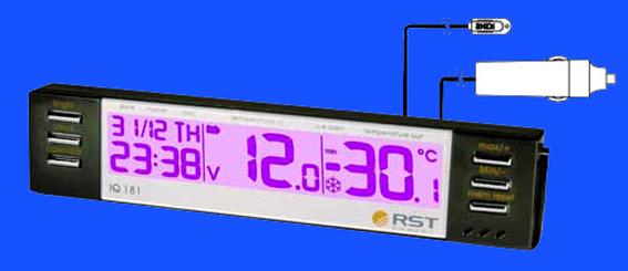 Цифровой автомобильный термометр 042.