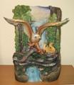 Подарок 2119 / Домашний настольный фонтан из полистоуна Орлиное гнездо переносит нас к горным вершинам